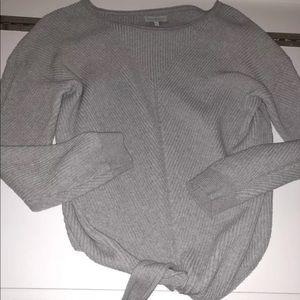 Lucky brand grey tie sweater
